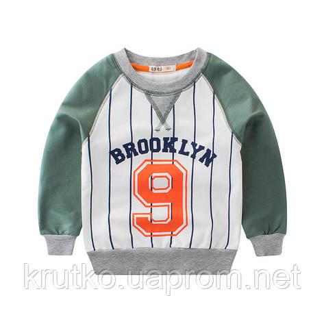 Світшот для хлопчика Бруклін, зелений 27 KIDS (90), фото 2