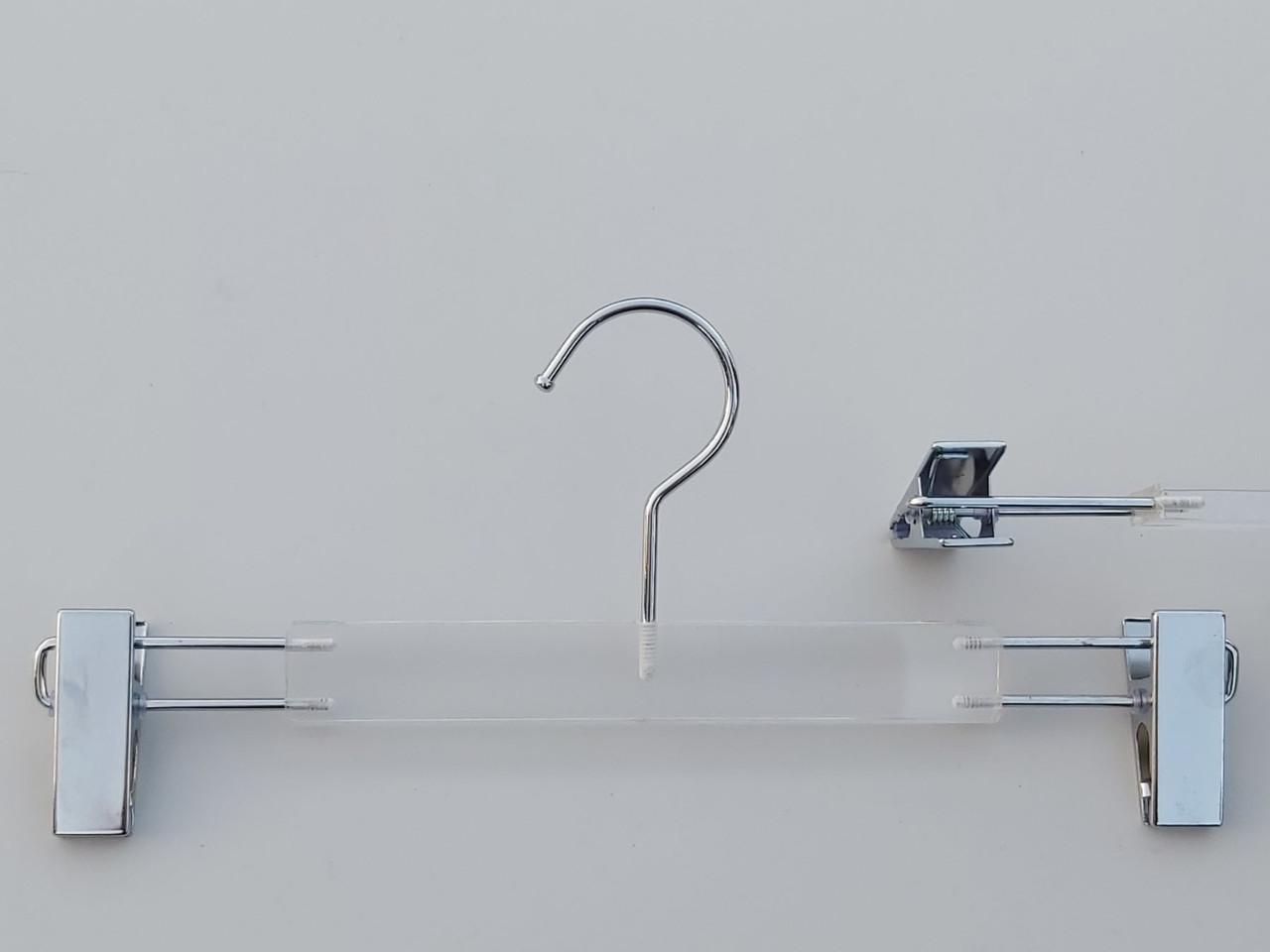 Плічка серія Сristallo для штанів і спідниць акрилові кришталево прозорі, довжина 33 см, Mainetti Group Італія