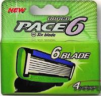 Чоловічий Картридж для гоління DORCO PACE 6 (4шт)