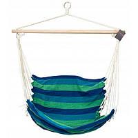 Гамак-кресло SportVida синий/зеленый