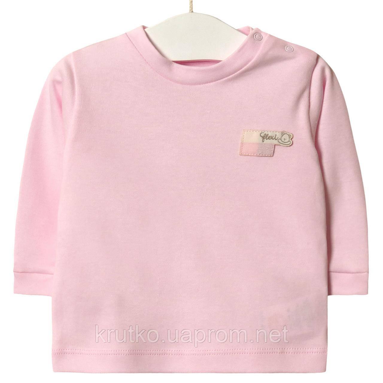 Лонгслів для дівчинки Зірочка, рожевий Flexi (3 міс)
