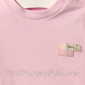 Лонгслів для дівчинки Зірочка, рожевий Flexi (3 міс), фото 2
