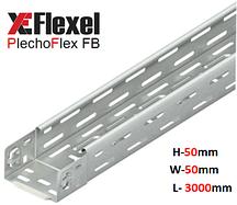 Лоток перфорированный, оцинкованный 50x50x3000x0,6 мм Plechoflex FB