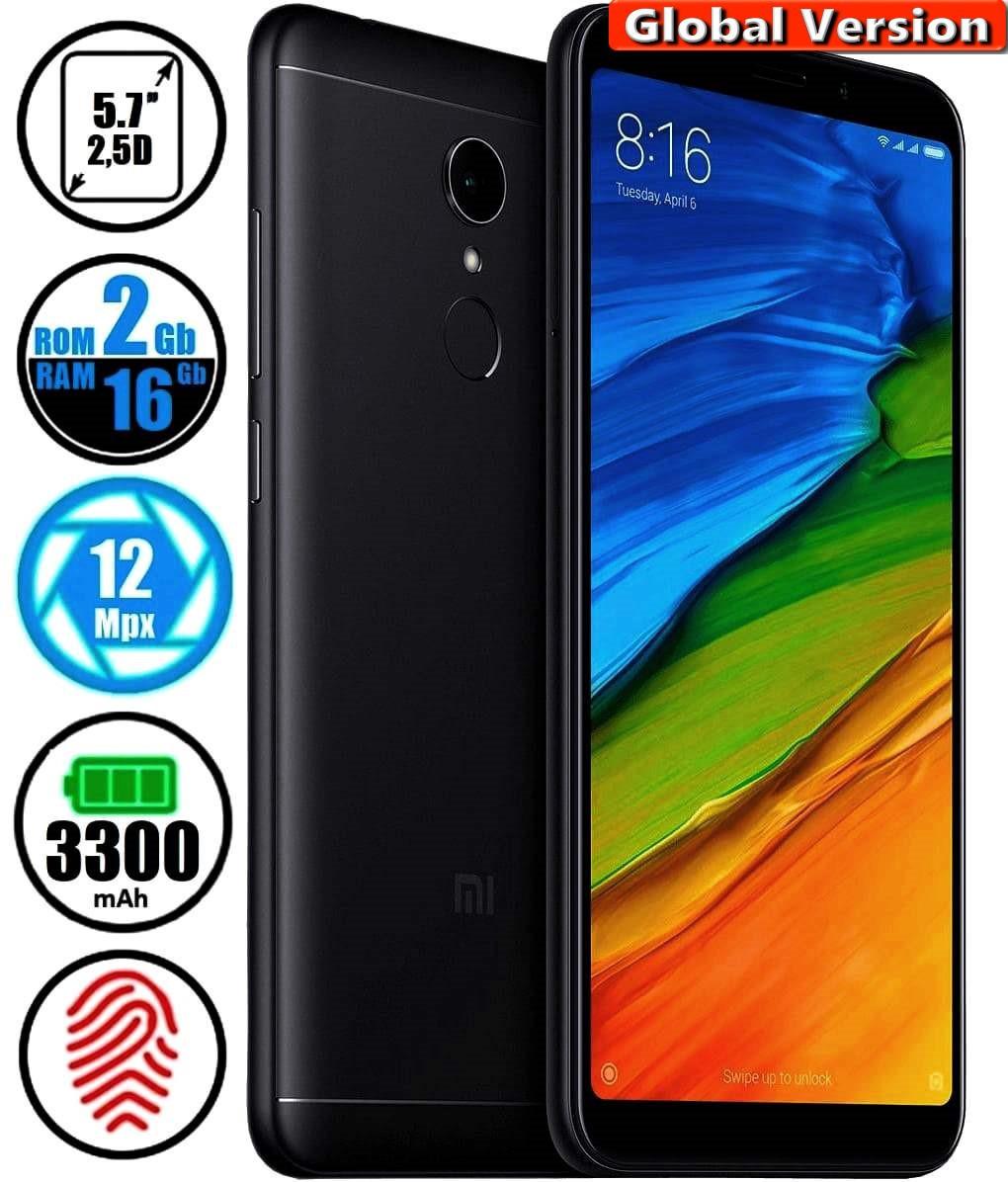Смартфон Xiaomi Redmi 5 2/16Gb Black (Global Version) + Подарок Защитное Стекло