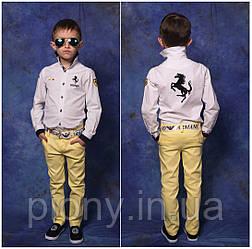 Детские брюки из джинса на мальчика