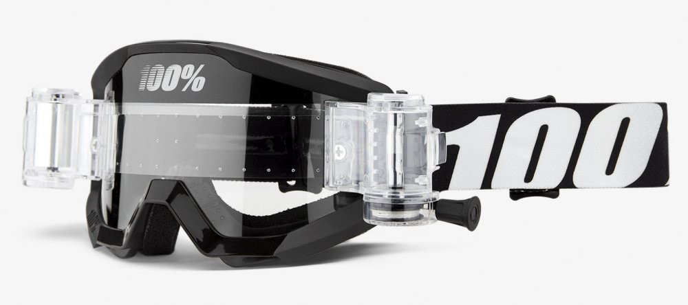 Мотоочки 100% STRATA Mud Goggle Outlaw - Clear Lens