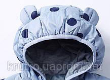 Куртка-пуховик дитяча Синій горошок Berni (90), фото 2