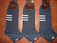 """Мужской носок """"в стиле"""" """"Adidas"""". р. 27-29 (42-45). Джинс"""