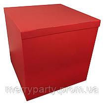 Коробка-сюрприз Премиум двухсторонняя красная 70х70х70 см