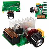 Симисторный регулятор мощности 220В 4кВт с предохранителем, фото 3