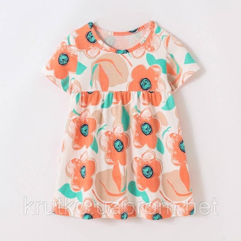 Плаття для дівчинки Помаранчеві квіти Little Maven (2 роки)