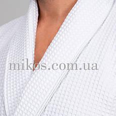 Мужской халат  L, вафельный,белый,100% хлопок, фото 2