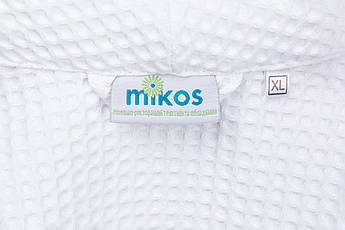 Мужской халат  L, вафельный,белый,100% хлопок, фото 3