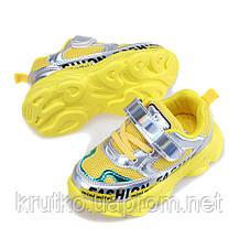 Кросівки для дівчинки Hologram, жовтий Hello Mifey (25), фото 3