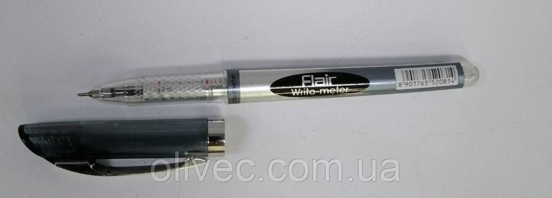 Ручка шариковая флаер Flair Writometer 10 км черная