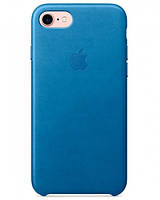 Чехол накладка на iPhone 7/8 Leather Case electric blue