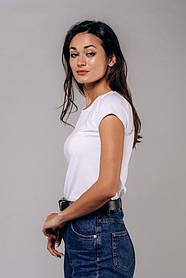 Жіноча біла однотонна базова футболка