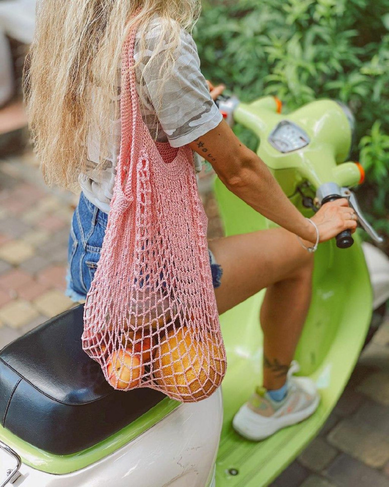 Авоська Maybe, сумка-авоська, авоськи оптом, сумка для продуктов, сумка сетка, сетчатая сумка - фото 2