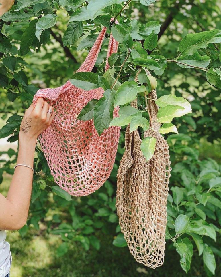 Авоська Maybe, сумка-авоська, авоськи оптом, сумка для продуктов, сумка сетка, сетчатая сумка - фото 4