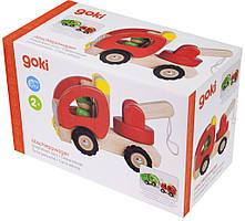 Машинка дерев'яна goki Евакуатор (червоний)
