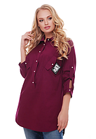 Модная женская рубашка асимметричная 48-58 размеры разные расцветки