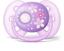 Пустушка Avent ортодонтична для дівчаток Ultra Soft 2 шт 6+