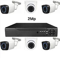 AHD комплект видеонаблюдения на 6 камер 2Mp, фото 1