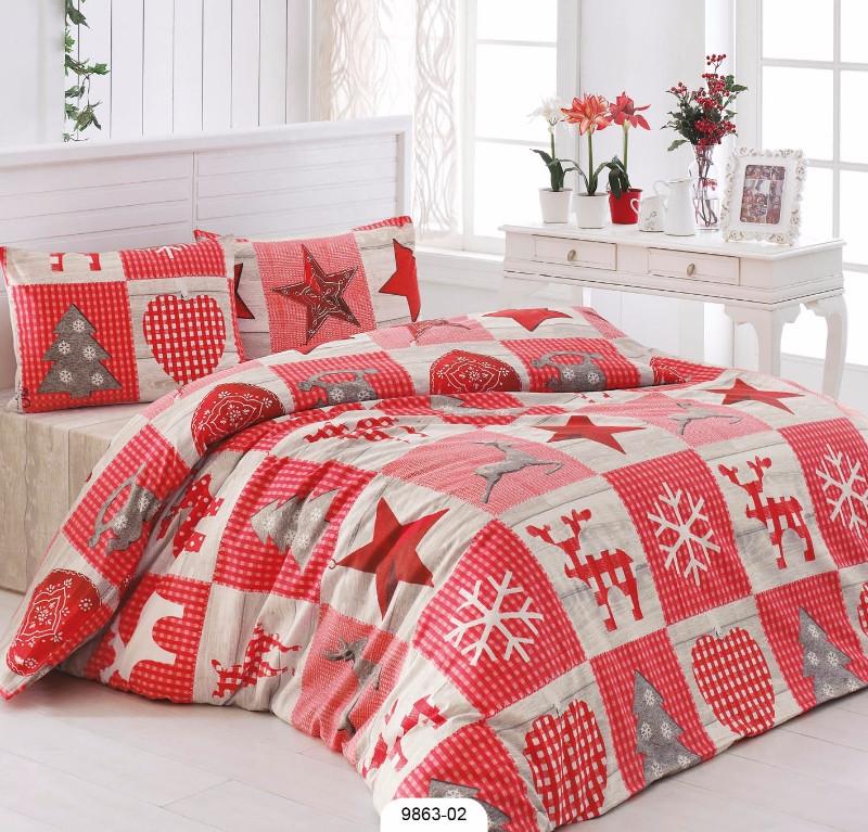 Комплект постельного белья 200х220 LIGHT HOUSE бязь голд STARS красный
