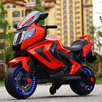 Детский электромотоцикл BMW на аккумуляторе M 3681 красный. Мотоцикл для детей 3-8 лет