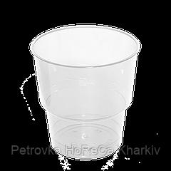 """Стакан """"Прозрачный"""" стеклоподобный 200мл, 1уп/25шт (1ящ/36уп)"""