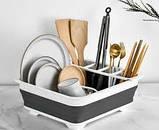 Сушилка для посуды силиконовая складная, фото 3