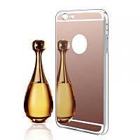Чехол накладка xCase на iPhone X/XS Mirror Cover Rose Gold