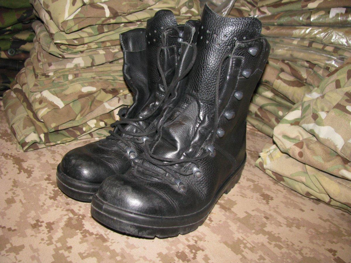 Ботинки EU 39 военные BW 2005 оригинал ВС Германии Bundeswehr Б/У - Black - Лот 44