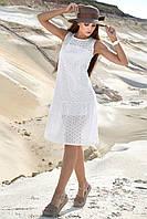Легкое батистовое платье на подкладе 1383 (42–48р) в расцветках, фото 1