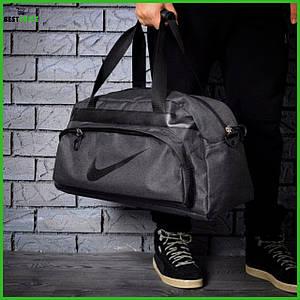 Влагостойкая сумка найк, Nike для спортазала и путешествий. Коттон. Темно-серая