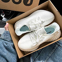 Женские кроссовки в стиле Adidas Yeezy Boost 350 v2 All White