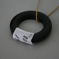 Люверсы круглые пластик черный 36мм