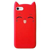 Чехол накладка на iPhone 7/8 Cartoon Cat red