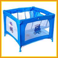 Манеж-кровать для маленьких детей 5467 (V6) Для Девочек и Мальчиков, Голубой, Розовый, Красный