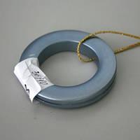Люверсы круглые пластик голубой 36мм