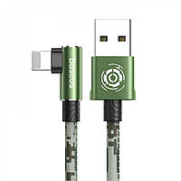 USB кабель Baseus Camouflage Lightning Cable 2.4A 1m green
