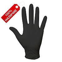 Перчатки нитриловые одноразовые Черные S, M, L неопудренные, нестерильные, для бургеров 100 шт/уп