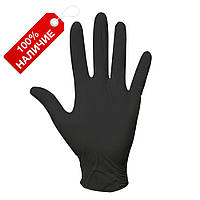 Нитриловые перчатки Черные 100шт/уп.(50 пар) плотные