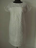 Элегантное летнее белое платье из прошвы, р.50,52,54,56 Код 3542М