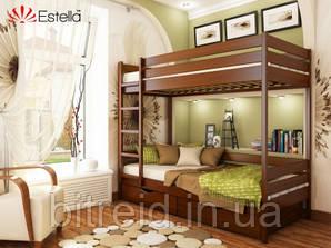 Двохярусне ліжко Дует Бук (масив), 80х200