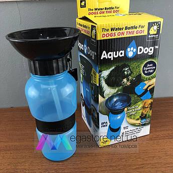 Дорожная поилка бутылка для собак Aqua Dog переносная в дорогу на прогулке улице поильник