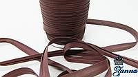 Косая бейка коричнево-бордового цвета