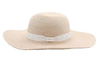 """Женская летняя пляжная шляпа канотье от солнца  розового цвета с белой лентой """"Versace"""""""