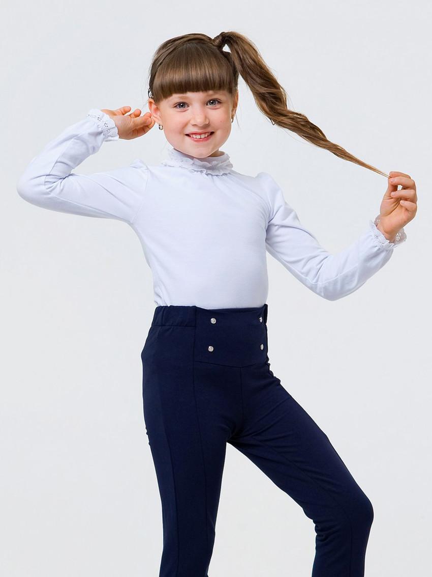 Блуза с кружевной горловиной для девочки, арт. 114766 СМИЛ