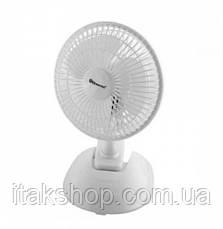Вентилятор настільний Domotec MS-1623 15Вт (Білий), фото 3